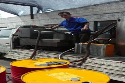 河南某砖厂液压油净化